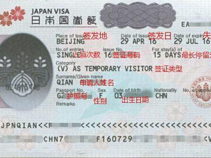日本签证照片尺寸是多大?(日本签证)